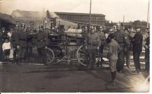 Erster Einsatz: Großbrand am Tonwerk Wohltorf